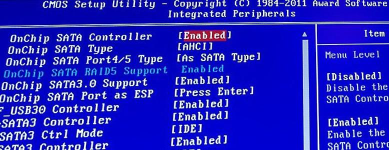 BIOS 7 Integrated Peripherals
