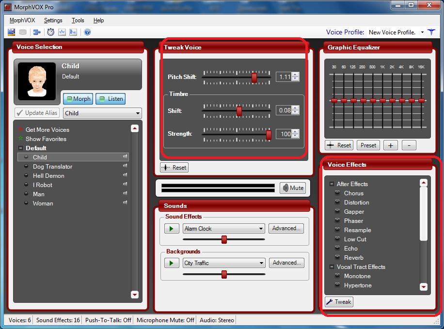 Индивидуальная настройка голоса в Morphvox Pro