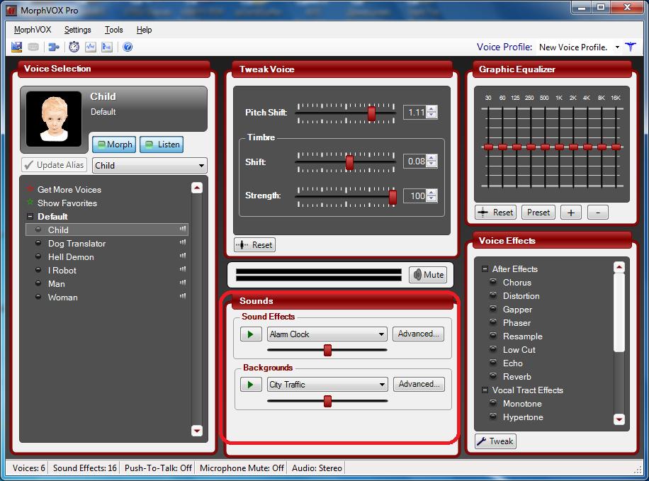 Настройка фонового шума в Morphvox Pro